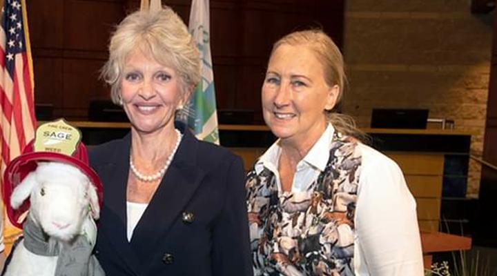 Irvine Mayor Shea with Sage Owner Alissa Cope