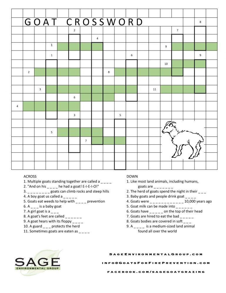 goat crossword (fill in)