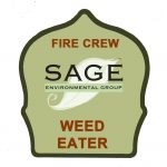 Goats fire crew weedeater hat label